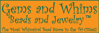 Gems and Whims Beads and Jewelry Logo